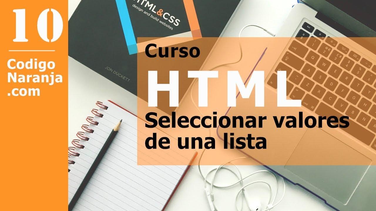 Como crear una lista desplegable HTML (2021)