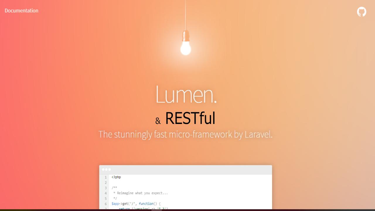 Como crear RESTful web services con php + Lumen