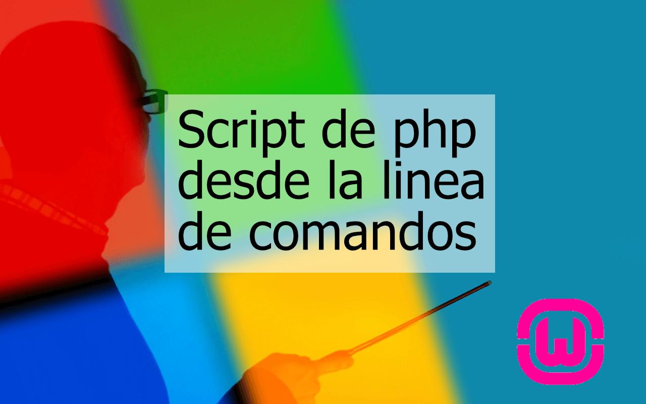 Cómo ejecutar programas de PHP desde la consola si usas WAMP